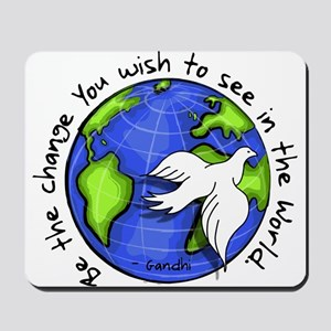 World Peace Gandhi - Funky Stroke Mousepad